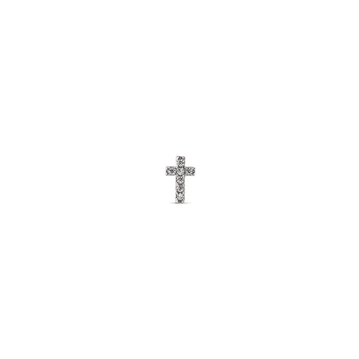 d9d48c099714 Pendiente cruz plata con circonitas blancas